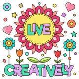 Leben Sie kreativ Auch im corel abgehobenen Betrag stock abbildung