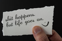 Leben Sie positiv stockfoto