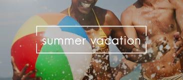 Leben-Sommer-Strand-Ferien-Konzept lizenzfreies stockfoto