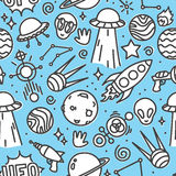 Leben Vektor-Musterblau des Raumes im nahtlosen Stockbilder