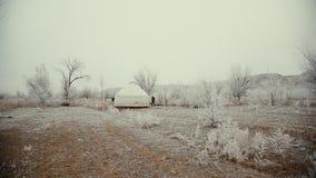 Leben von kasachischen Nomaden Kasachische Kultur stock footage