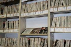 LEBEN-Zeitschriftensammlung am Palm Springs-Luft-Museum, Kalifornien Lizenzfreie Stockfotos