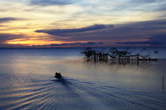 Lebenasiatfischer Lizenzfreie Stockbilder