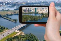 Lebenbezirk der touristischen Fotografien in Moskau Lizenzfreie Stockfotos