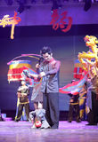 Lebenbuddha-jigong der chinesischen Draht Puppetryshow Stockfotografie