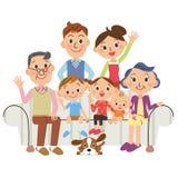 , Lebende dritte Generation der Familie Stockbild