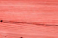 Lebende korallenrote hölzerne Beschaffenheit der Weinlese entziehen Sie Hintergrund stockbild