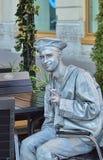 Lebende Statue im Bild eines Seemanns Stockbild