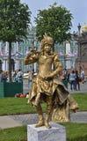 Lebende Statue - Jägerin Stockbilder