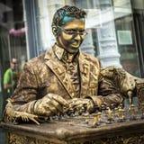 Lebende Statue in Madrid Stockfotos