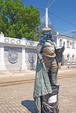 Lebende Statuemeisterschaft. Evpatoria, Ukraine lizenzfreies stockfoto