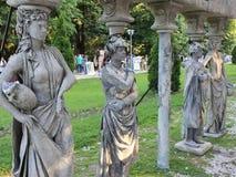 Lebende Statuen stock video