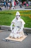 Lebende Statuenkünstlershow Stockfotografie