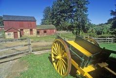 Lebender historischer Bauernhof Fosterfields in Morristown, NJ stockbild