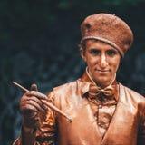 Lebender Skulptur-Mann Stockfoto