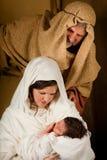 Lebendes Geburt Christi Stockbild