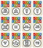 Lebenkarten lizenzfreie abbildung