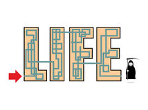 Lebensart Enden im Tod Am Ende des Leben gesehenen Sensenmanns herein lizenzfreie abbildung