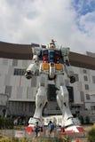 Lebensgroßer Gundam-Roboter Stockbild