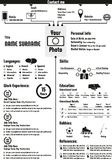 Lebenslauf-curriculum vitae-Zusammenfassungsschablone Stockbilder