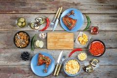 Lebensmittel, Abendessen, Platte, Mahlzeit, Mittagessen, köstlich, geschmackvoll, Tabelle, Küken stockfoto