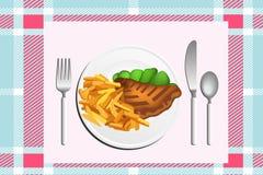 Lebensmittel auf Tabelle Stockbild