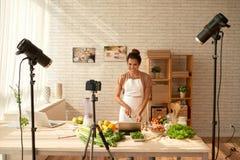 Lebensmittel Blogger Stockbild