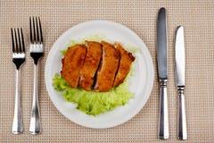 Lebensmittel in der Platte lizenzfreies stockfoto