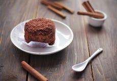 Lebensmittel des Schokoladen-Kuchens Stockfoto