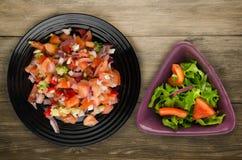 Lebensmittel des strengen Vegetariers Salat vom Gemüse Lizenzfreie Stockbilder