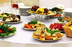 Lebensmittel für Buffet Stockfoto