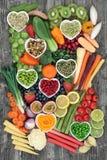 Lebensmittel für eine gesunde Diät stockbilder