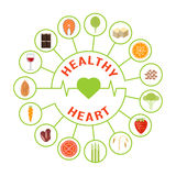 Lebensmittel für gesundes Herz Lizenzfreie Stockfotos