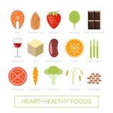 Lebensmittel für gesundes Herz Stockfotos