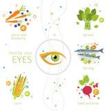 Lebensmittel für Ihre Augen Lizenzfreies Stockbild