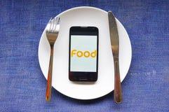 Lebensmittel für moderne Leute Lizenzfreies Stockbild