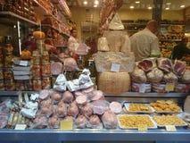 Lebensmittel für Verkauf in Italien Lizenzfreie Stockfotografie