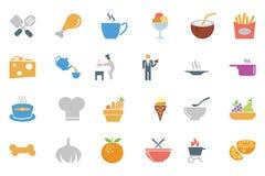 Lebensmittel farbige Vektor-Ikonen 4 Stockbild