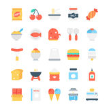 Lebensmittel farbige Vektor-Ikonen 2 Stockfotos