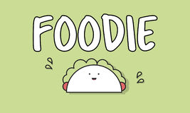 Lebensmittel-feinschmeckerisches Taco-Grafik-Konzept Lizenzfreies Stockfoto