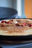 Lebensmittel-Fotografie des Krepps Stockbild
