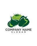 Lebensmittel gesunder Logo Template Lizenzfreie Stockbilder