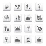 Lebensmittel a& Getränkeikonen vektor abbildung