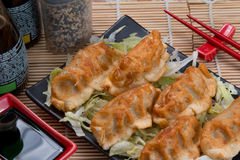 Lebensmittel Guioza Jiaozi Japan Stockbilder