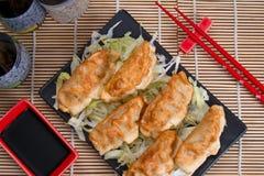 Lebensmittel Guioza Jiaozi Japan Lizenzfreie Stockfotografie