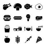 Lebensmittel-Ikonensatz Stockfotografie