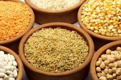 Lebensmittel - Impulse u. Bohnen Lizenzfreies Stockfoto