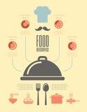 Lebensmittel Infographic-Schablone. Lizenzfreie Stockfotografie