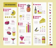 Lebensmittel Infographic-Schablone Lizenzfreies Stockfoto