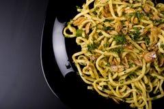 Lebensmittel-Italienerbandnudeln Stockfotografie